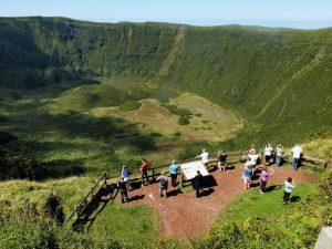 Il cratere Caldeira, nella bella isola di Faial, in Portogallo