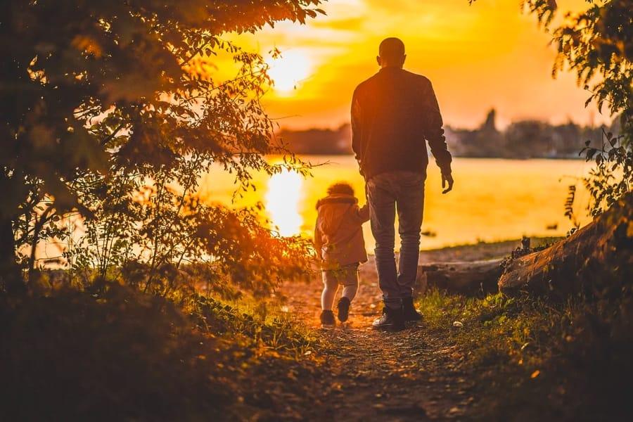 Un papà e la sua bambina
