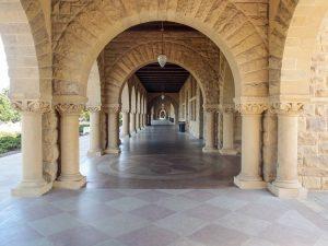 I prestigiosi ambienti della Stanford University, a Palo Alto
