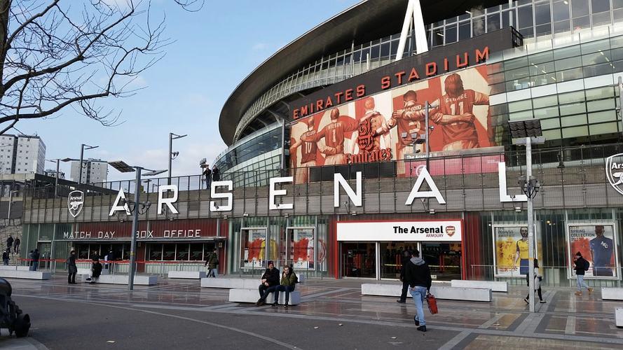 L'ingresso dell'Emirates Stadium, il campo da gioco dell'Arsenal