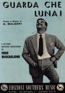 Lo spartito di Guarda che Luna, cantata in origine da Fred Buscaglione
