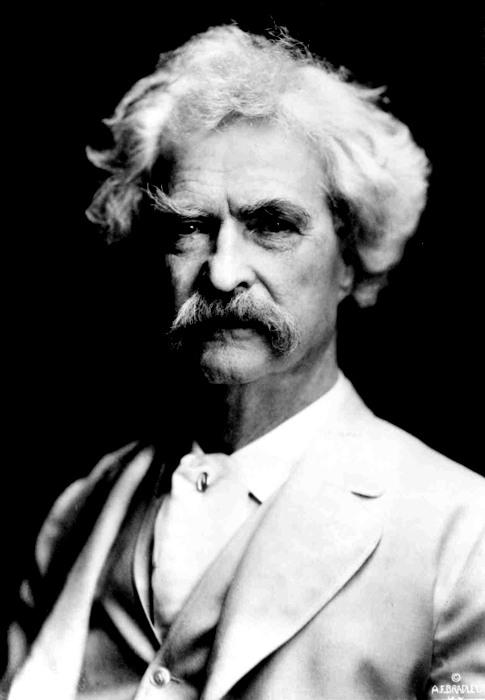 Mark Twain, scrittore che giocò spesso con l'idea di pazzia