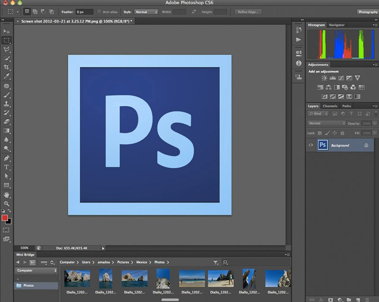 L'interfaccia di Photoshop