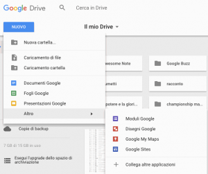 I vari applicativi resi disponibili su Google Drive
