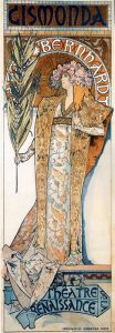 Il manifesto per Gismonda, pièce con Sarah Bernhardt