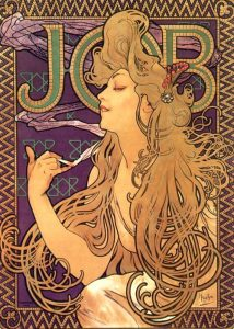 Pubblicità per le sigarette Job del 1896