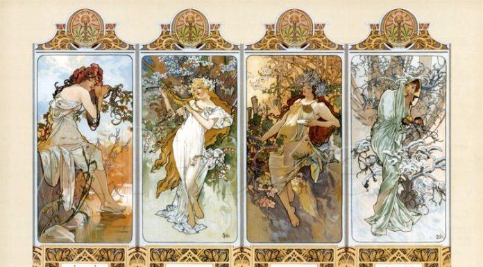 Le quattro stagioni, realizzato da Alfons Mucha
