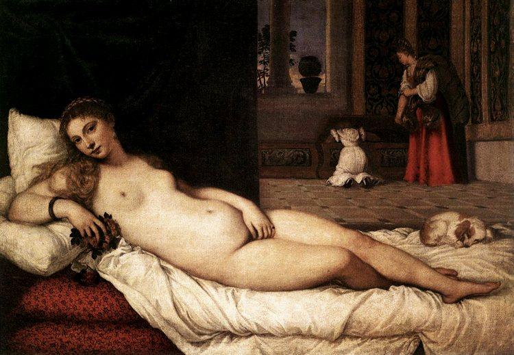 La Venere di Urbino di Tiziano, uno dei più grandi pittori veneti del Cinquecento