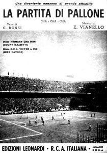 Lo spartito di La partita di pallone, cantata da Cocky Mazzetti e Rita Pavone
