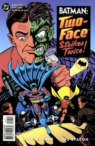 Due Facce sulla copertina di una storia di Batman