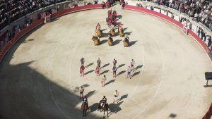 L'arena durante la Feria de Nîmes del 2013 (foto di Fusio11 via Flickr)