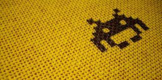 La grafica pixellata di Space Invaders, forse il più celebre tra i giochi spaziali degli anni '80 (foto di FabianOrtiz via Flickr)