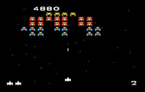 Una schermata di Galaga