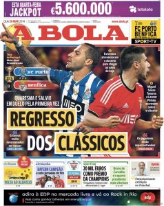 A Bola, forse il più famoso tra i giornali sportivi portoghesi