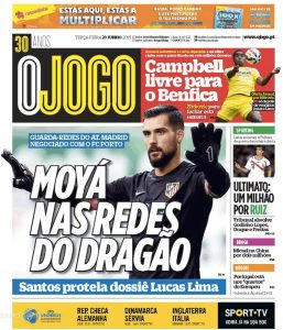 O Jogo, il terzo giornale sportivo portoghese