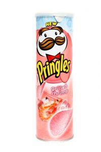 Le Pringles ai gamberetti alla griglia