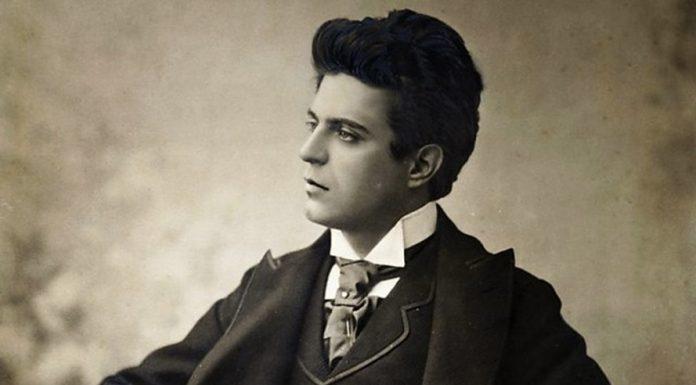Pietro Mascagni nell'età in cui le sue opere cominciavano a mietere successi