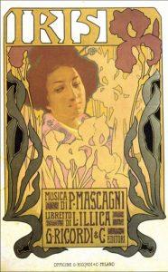 Il manifesto di Iris di Pietro Mascagni