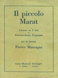L'edizione Sonzogno de Il piccolo Marat