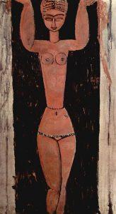 Cariatide in piedi di Modigliani