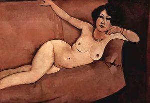 Il nudo sul divano sottolineato Almaisa