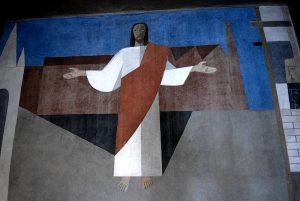 La cappella del Cristo operaio, realizzata da Alfredo Volpi (assieme ad altri esponenti del Modernismo brasiliano) a San Paolo (foto di Guilhermeguerraoc via Wikimedia Commons)