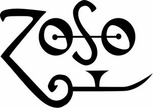 """Il simbolo usato da Jimmy Page, spesso identificato con la scritta """"ZoSo"""""""