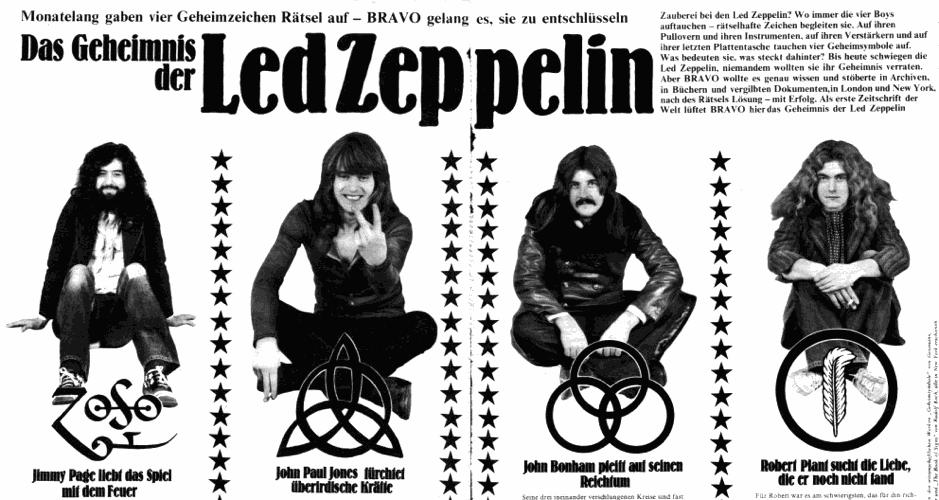 Un articolo degli anni '70 che tentava di fare il punto sui simboli usati dai Led Zeppelin