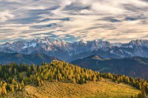 Un bel paesaggio alpino fotografato dal versante austriaco