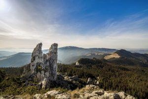 Uno scorcio sui Carpazi in Romania