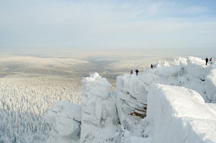 Gli Urali sotto la neve