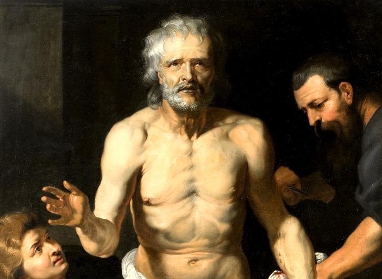 Il suicidio di Seneca rappresentato da Peter Paul Rubens