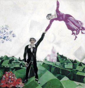 Il quadro La passeggiata di Marc Chagall