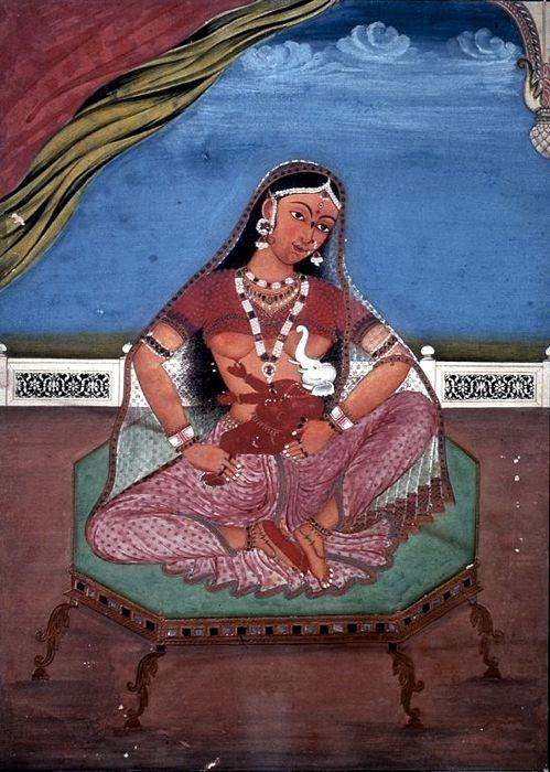 Parvati con il figlio Ganesha, dio dalla testa d'elefante