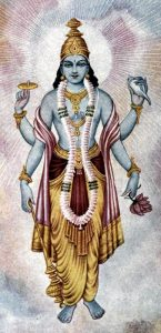 Vishnu con le sue quattro braccia