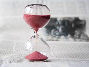 La clessidra e il tempo che fugge