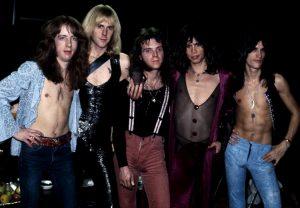 Gli Aerosmith nei primi anni della loro carriera