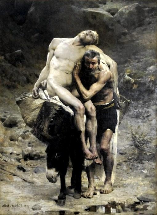 Il buon samaritano, una delle più celebri parabole di Gesù ritratta da Aimé Morot a fine '800