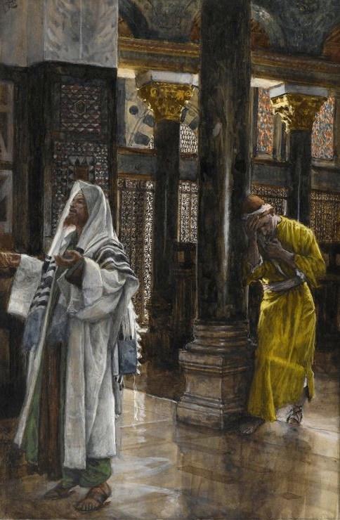 Il pubblicano e il fariseo in un dipinto di James Tissot