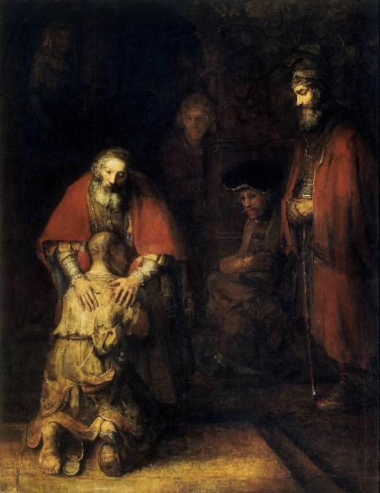 Il ritorno del figliol prodigo in un celebre dipinto di Rembrandt