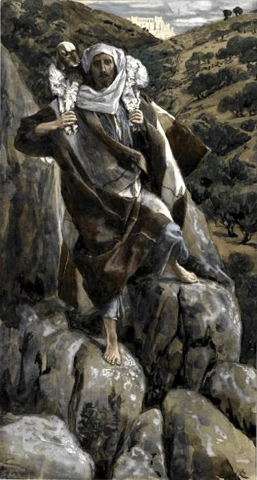 Il buon pastore in un dipinto di James Tissot