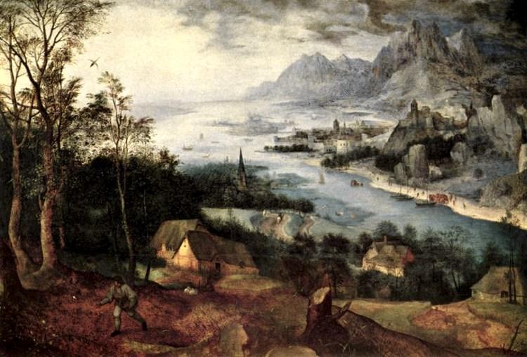 Paesaggio con parabola del seminatore, quadro di Pieter Bruegel il vecchio