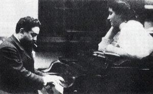 Isaac Albéniz con sua figlia nei primi anni del '900