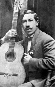 Agustín Barrios Mangoré, autore di memorabili pezzi per chitarra classica, nel 1910