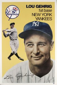 Lou Gehrig, storica prima base degli Yankees