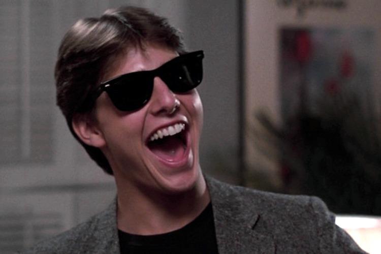 Un giovane Tom Cruise in Risky Business, uno dei più divertenti film ambientati a Chicago