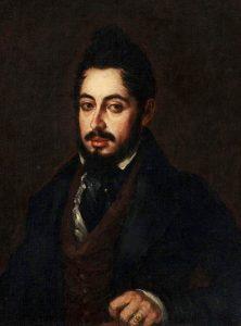 Mariano José de Larra ritratto nella prima metà dell'Ottocento da Jose Gutiérrez de la Vega