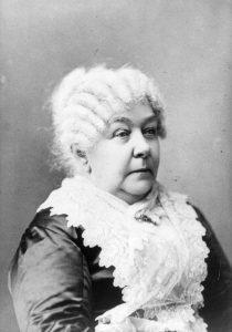 Elizabeth Cady Stanton in un'immagine della vecchiaia