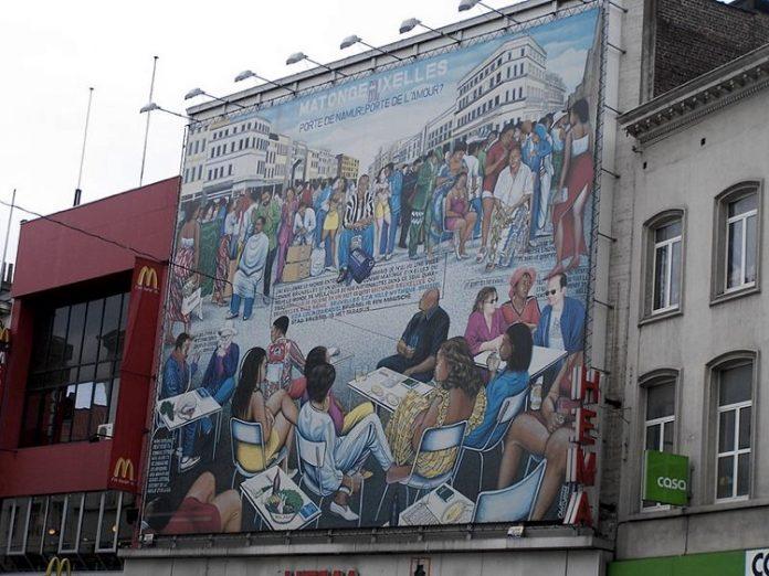 Il dipinto di Chéri Samba, uno dei maggiori pittori africani, dal titolo