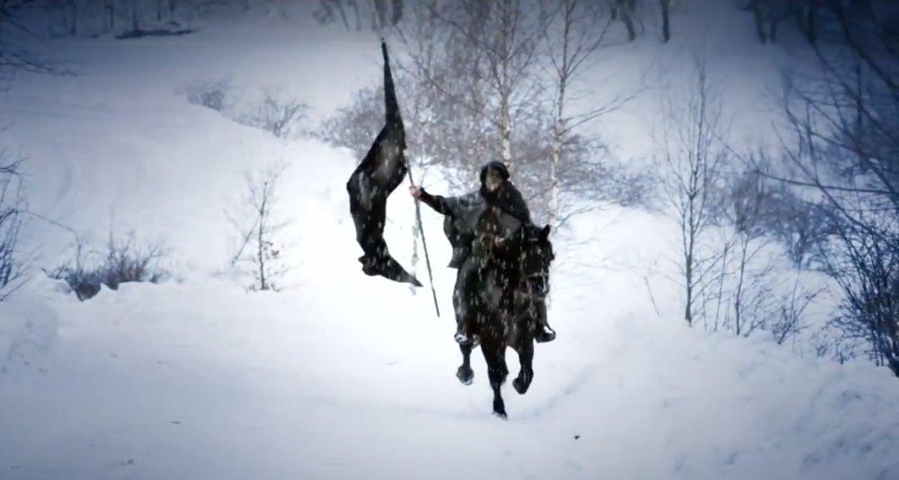 Una scena del videoclip di Guardians of Asgaard